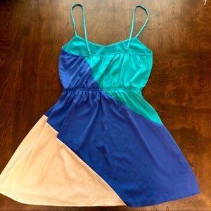 Lush - Blue and White Mini Tank Dress